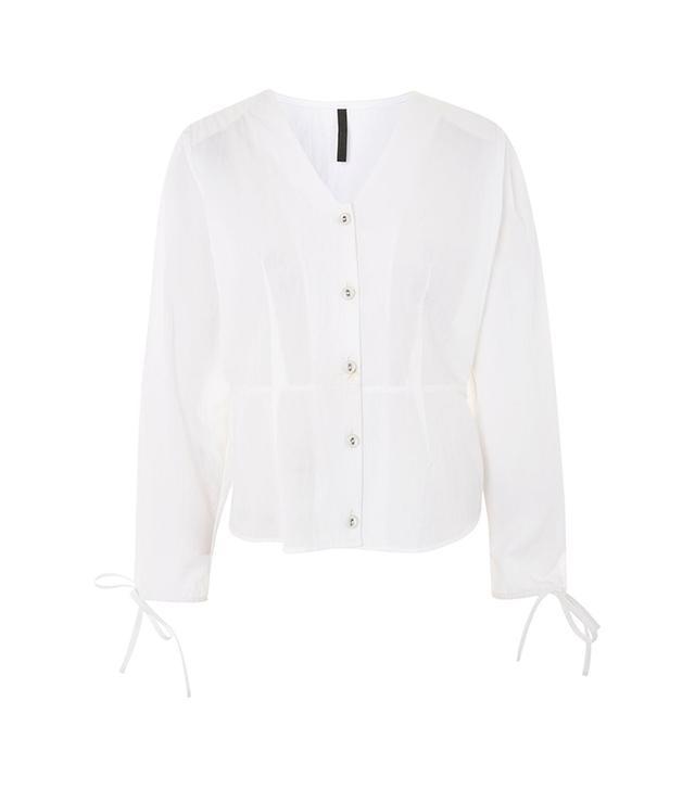 Topshop Cotton Corset Blouse by Boutique