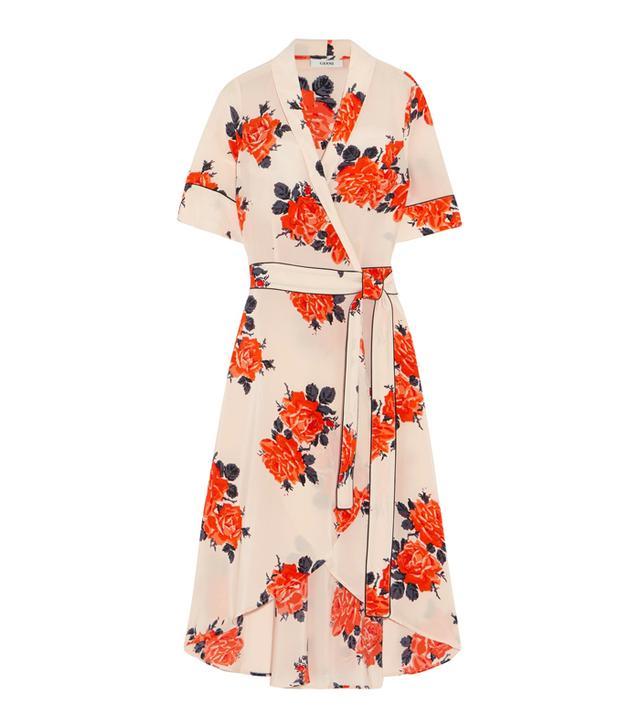 Harness Floral-print Silk Crepe De Chine Wrap Dress