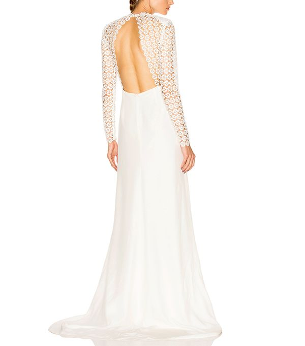 Eva Backless Silk Wedding Dress