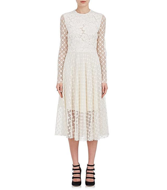Women's Lace Peasant Dress