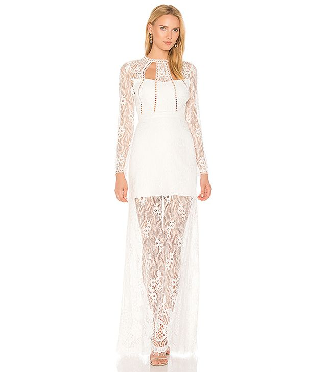 Rizer Gown in White. - size M (also in L,S,XS)