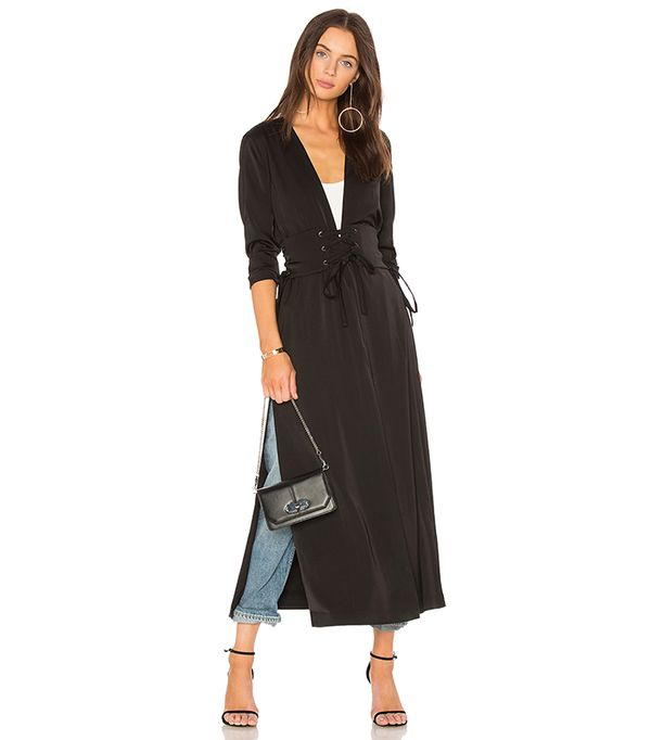 x REVOLVE Sara Robe in Black. - size L (also in M,S,XS, XXS)