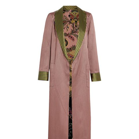 Reversible Jacquard and Printed Silk Crepe de Chine Jacket