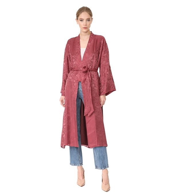 Tracey Wide Sleeve Robe Wrap Jacket