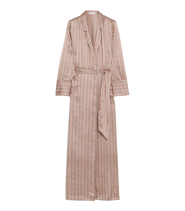 Florian Striped Silk-satin Robe