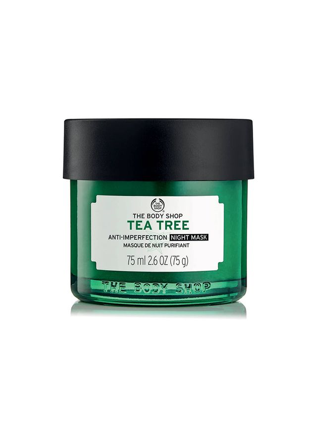 Best Face Mask for Oily Skin The Body Shop Tea Tree Anti-Imperfection Night Mask