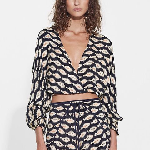 Mila Long Sleeve Wrap Top