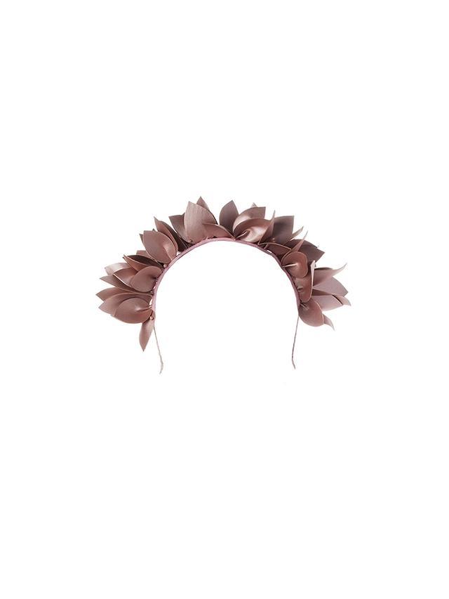 Olga Berg Jess Flora Headband in Blush