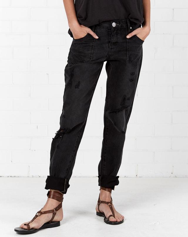One Teaspoon Black Van Awesome Baggies Straight Leg Jeans
