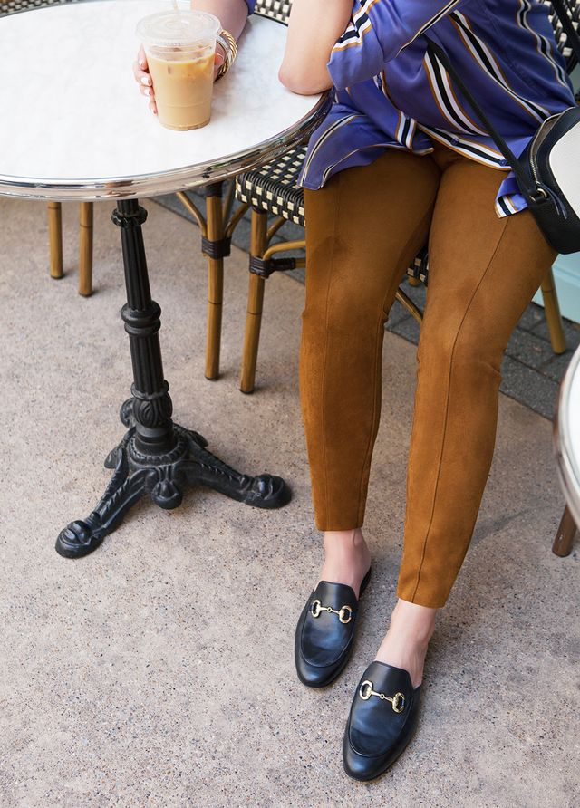skinny pants loafers outfit