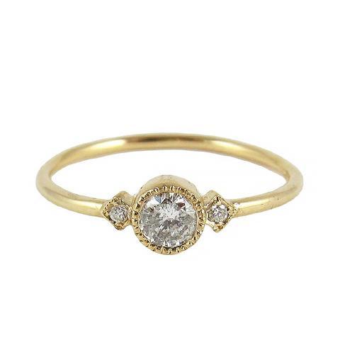 Champagne Diamond Sotto Voce Ring