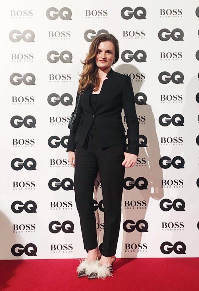 GQ Awards 2017: Emma Spedding in Hugo Boss