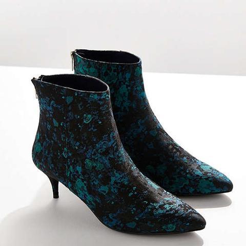 Blair Jacquard Kitten Heel Ankle Boots