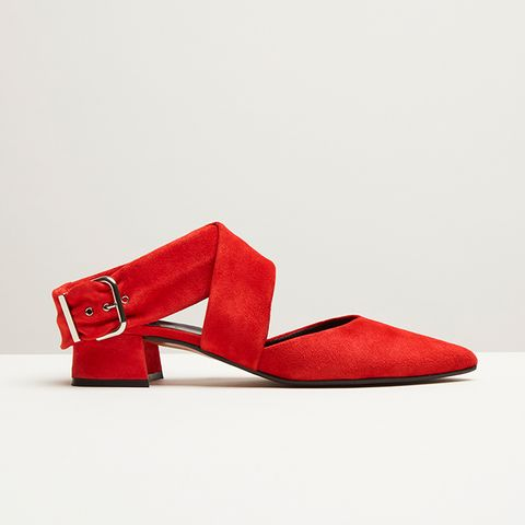 Stella Suede Sling Backs With Buckle