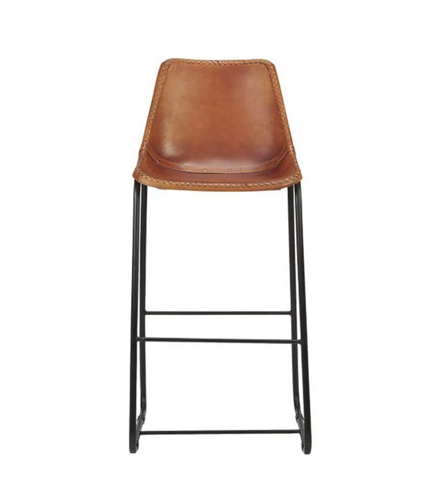 CB2 Roadhouse Leather Bar Stools
