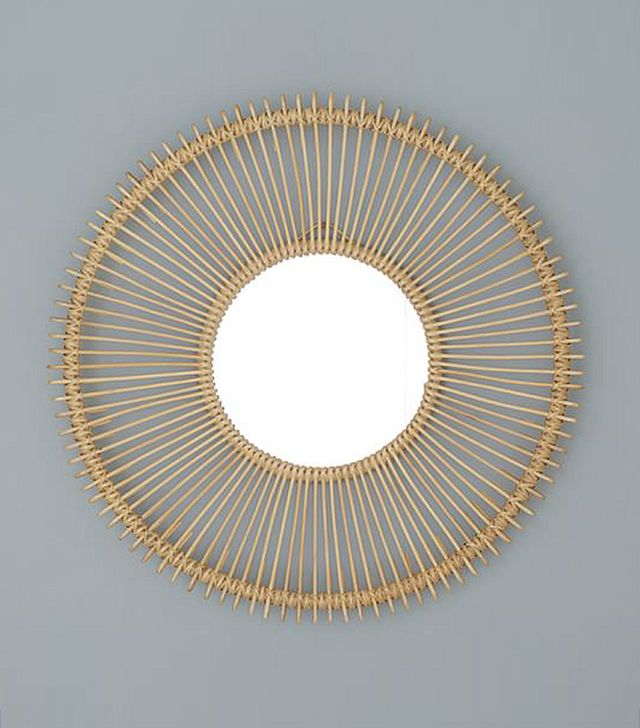 Pottery Barn Kids Natural Rattan Mirror