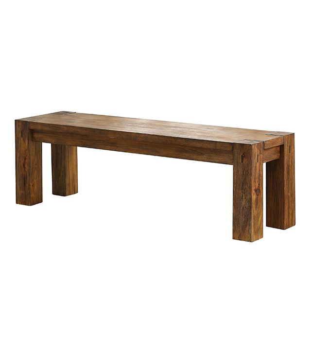 Sun & Pine Sturdy Wooden Dining Bench