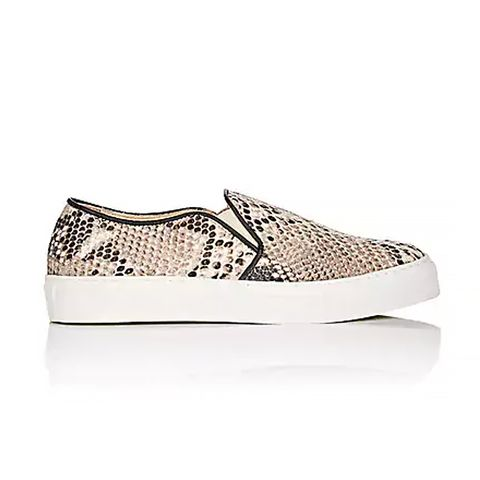 Stamped Leather Slip-On Sneakers