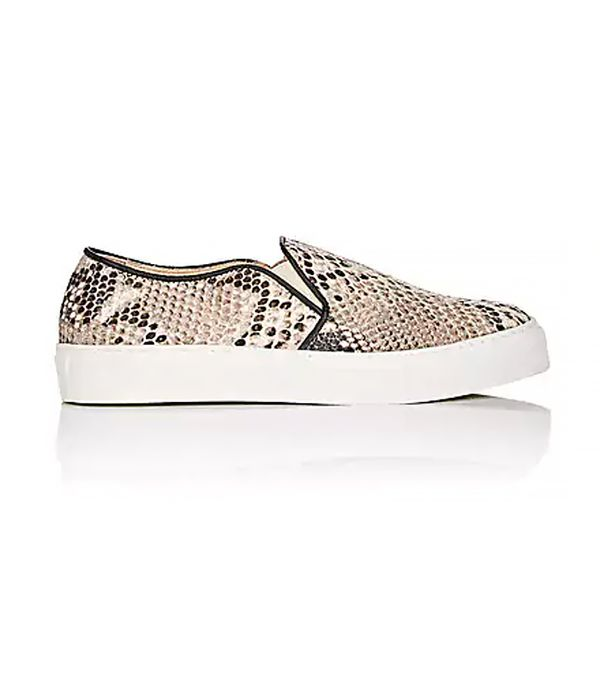 Women's Stamped Leather Slip-On Sneakers