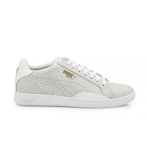 Match Select Premium Snakeskin-Embossed Suede Sneakers