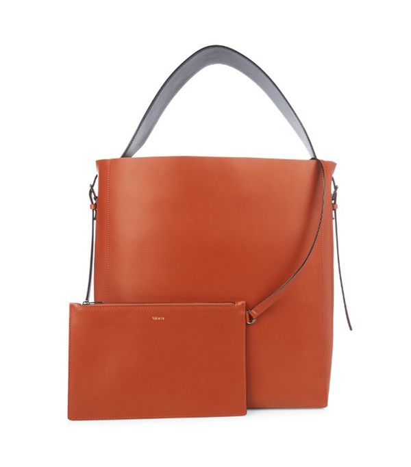 Smooth-leather tote