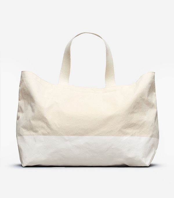 Women's Beach Canvas Tote Bag by Everlane in Natural / White