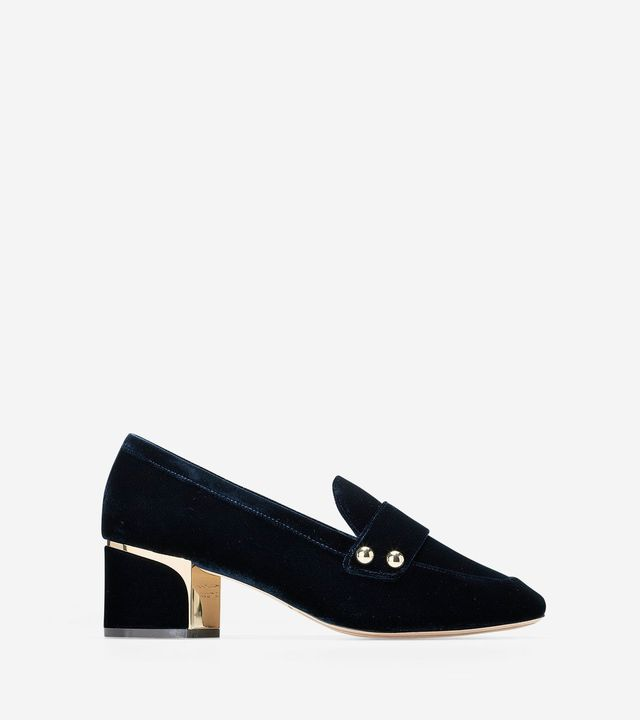 Cole Haan Collection Hardware Block Heel Loafer