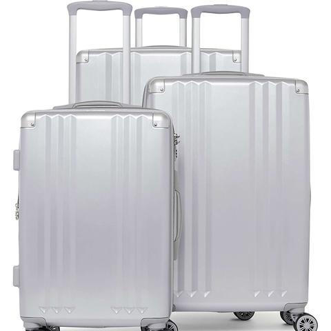 Ambeur 3-Piece Metallic Luggage Set