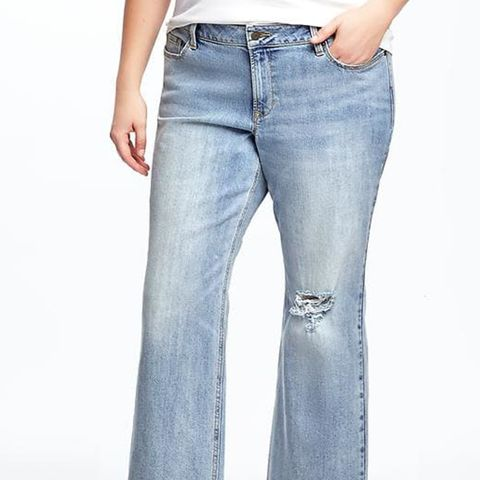 Plus-Size Cropped Kick-Flare Jeans
