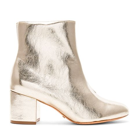 Lupe Bootie in Metallic Gold