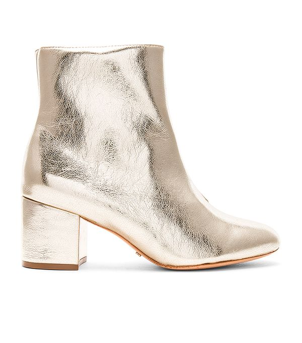 Lupe Bootie in Metallic Gold. - size 6 (also in 10,6.5,7,7.5,8,8.5,9.5)