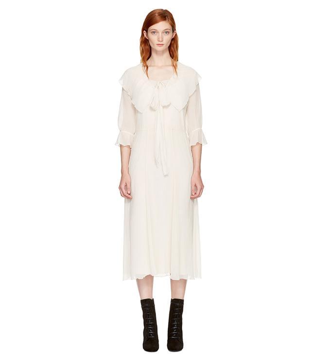 See by Chloé White Ruffled Dress