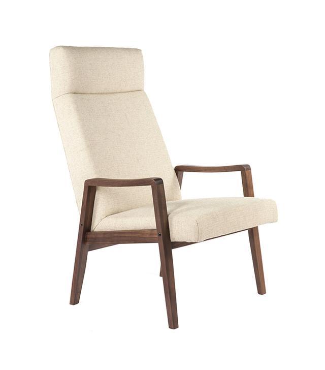 France & Son Jolan Highback Lounge Chair in Beige