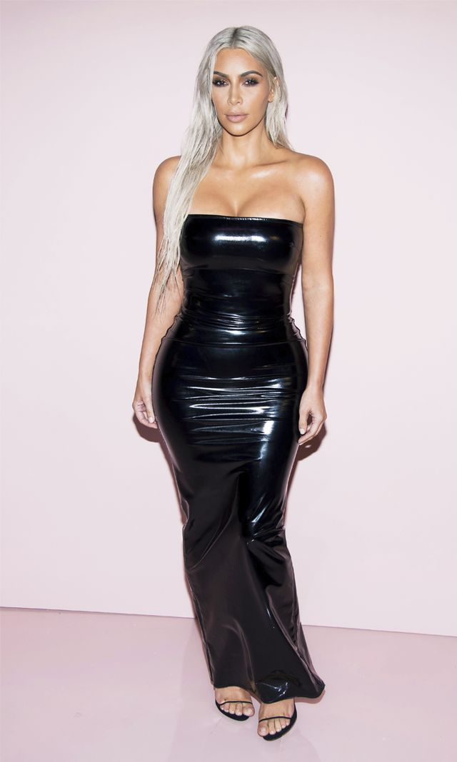 Kim Kardashian latex black Tom Ford dress