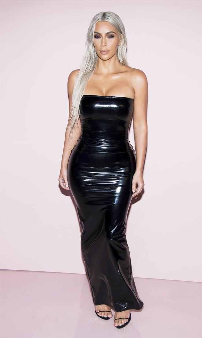 Kim Kardashian latex black Tom Ford dress