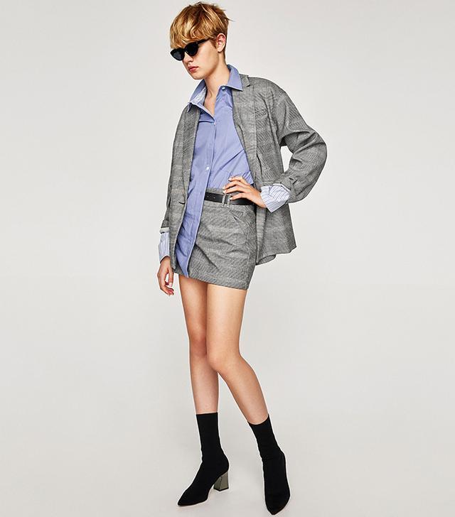 Zara Check Miniskirt