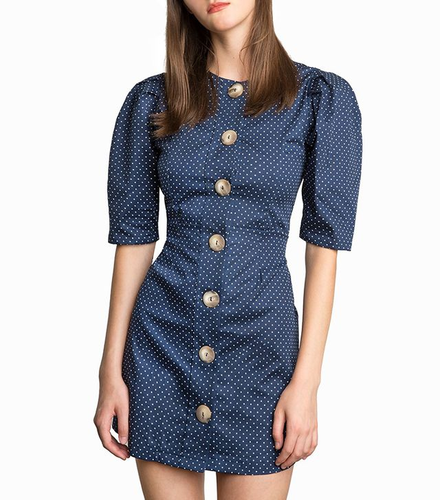 Pixie Market Mirabel Polka Dot Button Dress