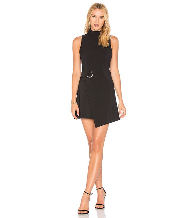 Eyelet Wrap Dress in Black. - size L (also in M,S,XS)