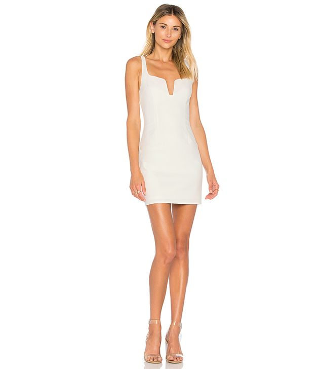 Cici Square Neck Mini Dress