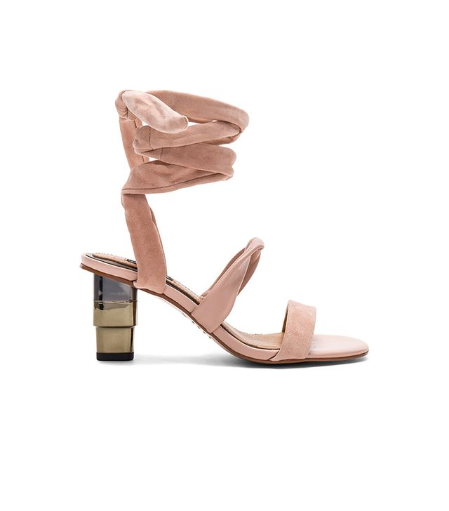 Triple Metal Heel in Blush. - size 37 (also in 36,38,39,40)