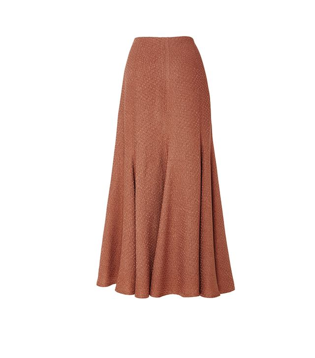 Paneled Flared Skirt