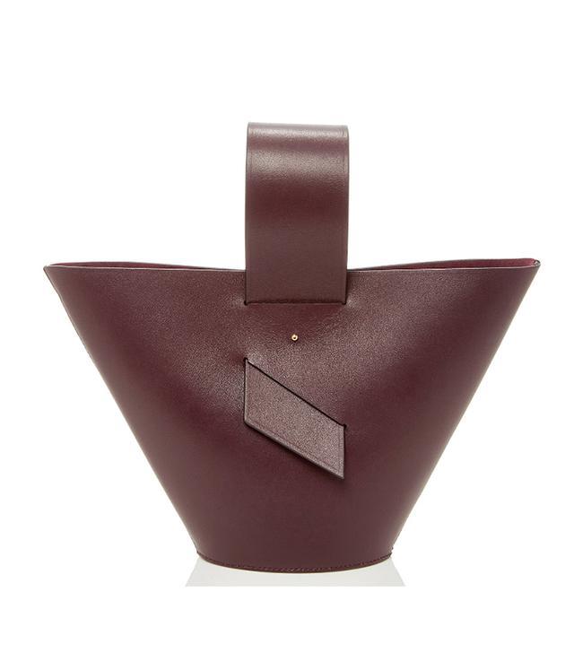 Amphora Leather Top Handle Bag
