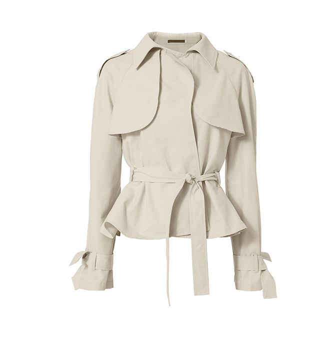 Harvey Faircloth Belted Cropped Trench Jacket
