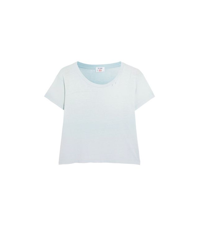 Hanes 1950s Distressed Cotton-jersey T-shirt