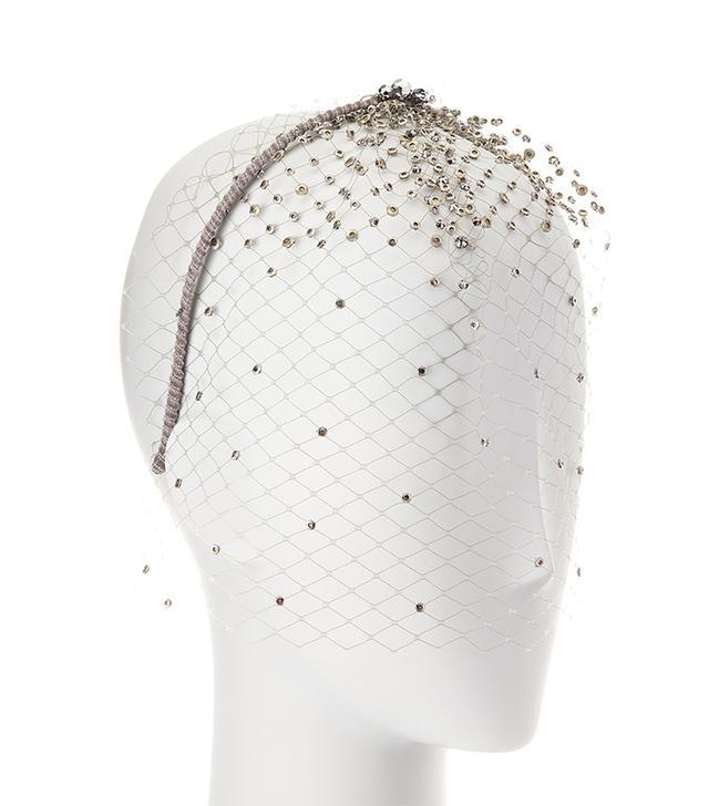Bianca Netted Embellished Veil