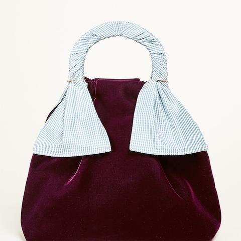 Hazel Velvet Shopper Bag