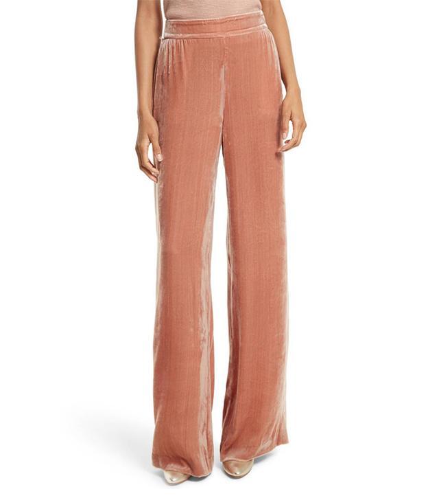 Racquel Velvet Wide Leg Pants