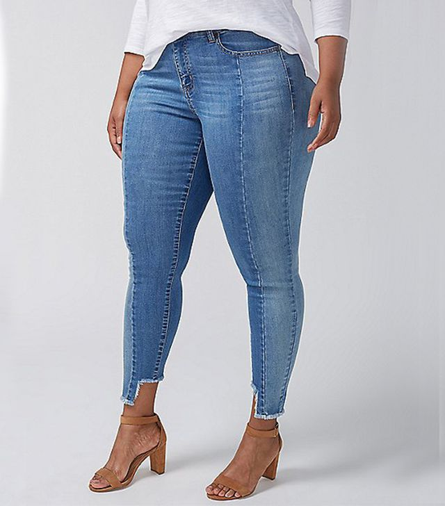 Lane Bryant Super Stretch Skinny Jean Pieced With Step Hem
