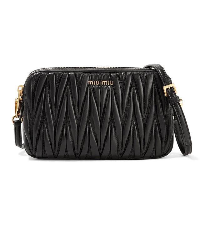Matelassé Leather Camera Bag