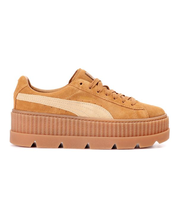 Cleated Creeper suede sneakers